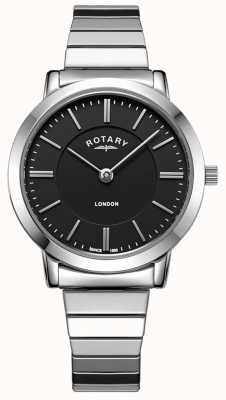 Rotary Damski zegarek ze stali nierdzewnej powiększający bransoletę LB00765/04
