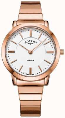 Rotary Damski zegarek ze stali w kolorze różowego złota LB00767/02
