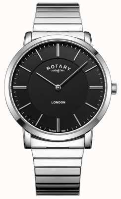 Rotary Męski zegarek ze stali nierdzewnej z powiększającą bransoletką GB02765/04