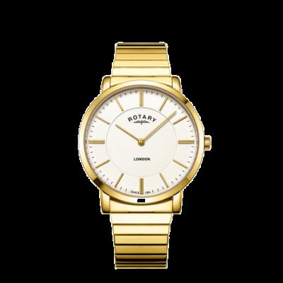 Rotary Męski zegarek ze stali nierdzewnej z powiększającą bransoletką ze stali nierdzewnej GB02766/03