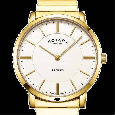 Rotary Męski złoty zegarek ze stali nierdzewnej w kolorze londyńskiego złota GB02766/03