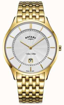 Rotary Męska ultra cienka pozłacana bransoletka GB08413/02