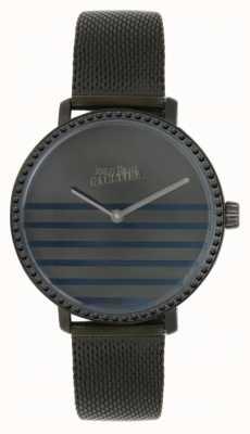 Jean Paul Gaultier Damski, granatowy, siatkowy zegarek z siatkowej bransoletki 8505602