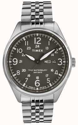 Timex Mens waterbury tradycyjnego dnia daty czarna stal TW2R89300