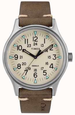 Timex Męskie mk1 sst chrono 40mm koperta brązowy skórzany pasek TW2R96800