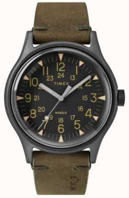 Timex Mens mk1 sst chrono 40mm czarny pokrowiec z czarną tarczą oliwkową TW2R97000