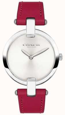 Coach Damski zegarek z czerwonej skóry chrystiu 14503199