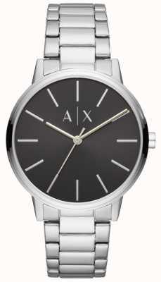 Armani Exchange Męski zegarek ze stali nierdzewnej z czarną tarczą AX2700