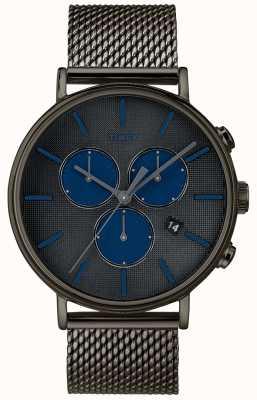 Timex Pasek chronografu supernowej typu Fairfield z szarą siatką TW2R98000D7PF