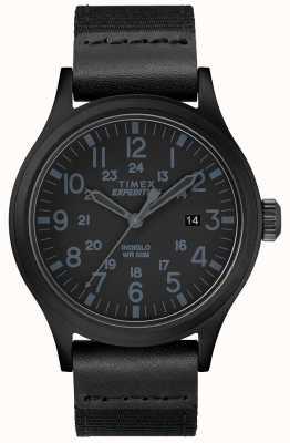 Timex Plecak z ekspedycją, czarny pasek z tkaniny TW4B14200D7PF