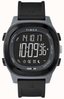 Timex Żelazny, niezbędny, czarny, szybko zawijany zegarek TW5M19300SU