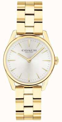 Coach Damska, nowoczesna, luksusowa bransoletka w odcieniu złota 14503208