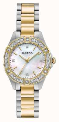 Bulova Zegarek damski z dwukolorowym diamentem 98R236