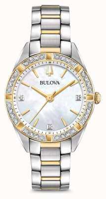 Bulova Zegarek damski z dwukolorowym diamentem 98R263