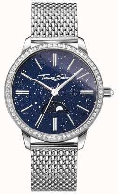 Thomas Sabo Damski zegarek z srebrnej i srebrnej siatki WA0326-201-209-33