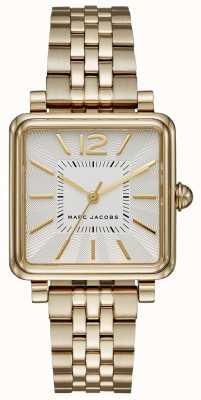 Marc Jacobs Damska zegarka zegarek złota bransoletka z tarczą kwadratową MJ3462
