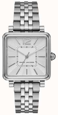 Marc Jacobs Zegarek damski zegarek srebrny tone bransoletka z tarczą kwadratową MJ3461