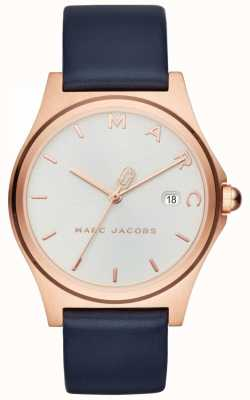Marc Jacobs Damski zegarek henry z granatowym skórzanym paskiem MJ1609
