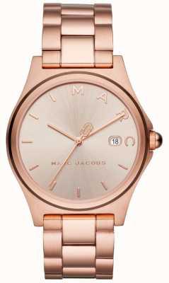 Marc Jacobs Damska henry zegarka wzrosła złoty ton MJ3585