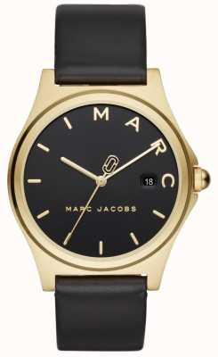 Marc Jacobs Damska henry oglądać czarny skórzany pasek MJ1608