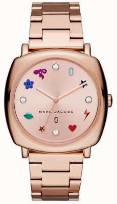 Marc Jacobs Zegarek mandy kobiet wzrosła złoto ton MJ3550