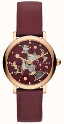 Marc Jacobs Damski marc jacobs klasyczny zegarek ze skóry w kolorze bursztynu MJ1629