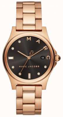 Marc Jacobs Damska henry zegarka wzrosła złoty ton MJ3600