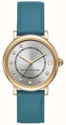 Marc Jacobs Womens marc jacobs klasyczny zegarek turkusowy leatherr MJ1633