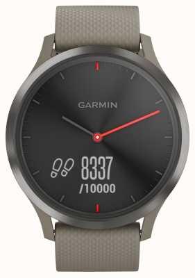 Garmin Vivomove hr tracker aktywności pasek z piaskowca czarna tarcza 010-01850-03