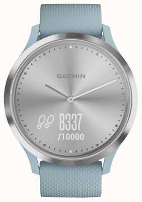 Garmin Vivomove hr tracker aktywności niebieski gumowy srebrny tarcza 010-01850-08