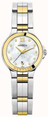 Michel Herbelin Panie newport royale dwubarwna masa perłowa z diamentem 14298/BT89