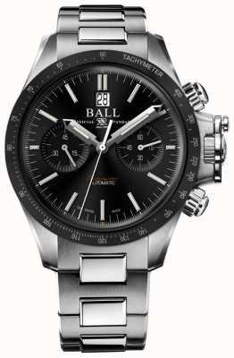 Ball Watch Company Inżynier węglowodorów chronograf wyścigowy 42mm czarna tarcza CM2198C-S1CJ-BK
