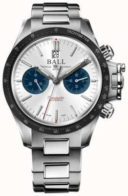 Ball Watch Company Inżynier węglowodorowy chronograf dla kierowców 42 mm srebrna tarcza CM2198C-S1CJ-SL