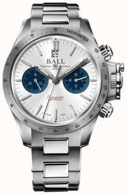 Ball Watch Company Inżynier węglowodorów chronograf wyścigowy 42mm srebrna tarcza CM2198C-S2CJ-SL