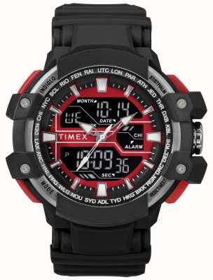 Timex Męska czarna koperta z czarnym akcentem i czarnym paskiem TW5M22700