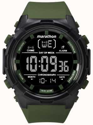 Timex Męski, czarny, oliwkowy pasek w rozmiarze 50mm TW5M22200