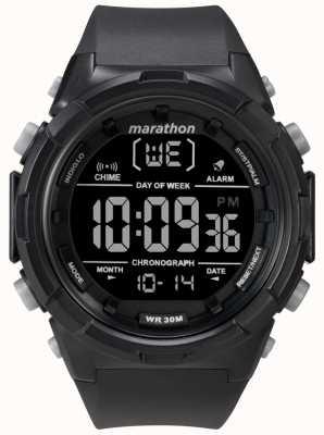 Timex Męski czarny czarny pasek z czarnym etui TW5M22300