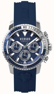 Versus Versace Męski niebieski niebieski pasek z niebieskim paskiem S30040017