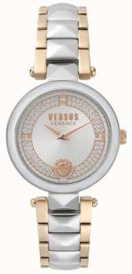 Versus Versace Dwuczęściowy zegarek kryształowy damski covent garden SPCD250017
