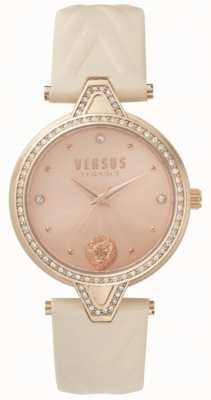 Versus Versace Damski v w zestawie z różowego różowego skórzanego rzemienia z różowego złota SPCI330017