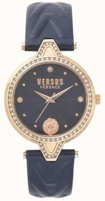 Versus Versace Zestaw damski v versus kamień niebieski pasek niebieski skórzany SPCI340017