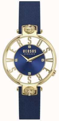 Versus Versace | damskie | kristenhof | niebieska tarcza | niebieski skórzany pasek | SP49020018