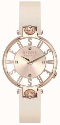 Versus Versace Damski kristenhof różowo-złoty skórzany pasek SP49030018