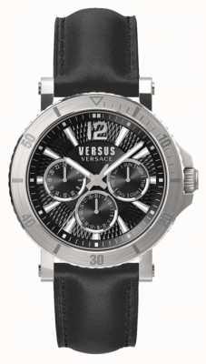 Versus Versace Męski czarny czarny skórzany pasek steenberg SP52020018