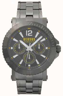 Versus Versace Mens steenberg szara tarcza szara ze stali nierdzewnej bransoleta SP52050018