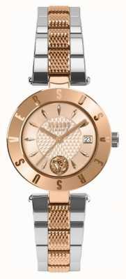 Versus Versace Bransoletka damska z różowego złota, dwukolorowa bransoletka SP77260018