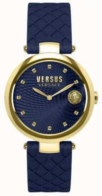 Versus Versace Bluza damska z niebieską niebieską skórą SP87030018
