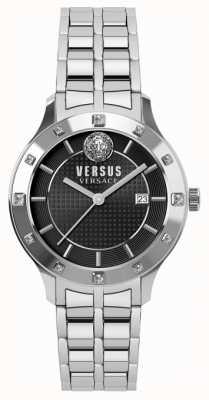Versus Versace Damska czarna bransoleta ze stali nierdzewnej SP46010018
