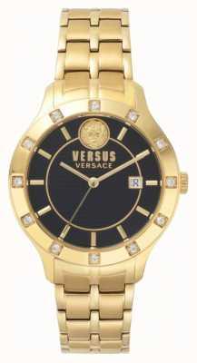 Versus Versace Bransoletka brackenfell czarna bransoleta ze złota SP46030018