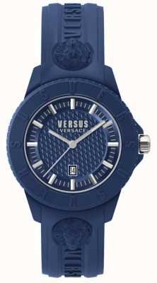 Versus Versace Tokio r niebieska tarcza niebieski silikon SPOY210018